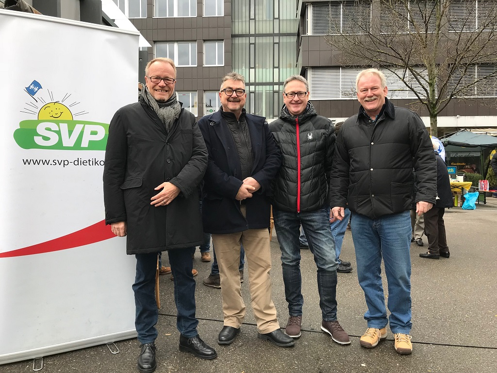 Gelungener Wahlkampfstart – «SVP Dietikon bi de Lüt»